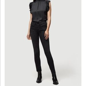 FRAME Le Skinny de Jeane Black Jeans Sz 24